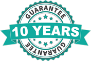 10 Years Guarantee on all products